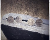 LUCKY DIP****!!!! sterling silver handmade hammered round stud earrings