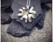 Sterling silver large 5 petal Bloom pendant