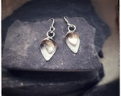 Flourish silver dangly earrings