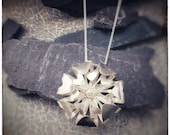 Handmade sterling silver double layer Bloom pendant