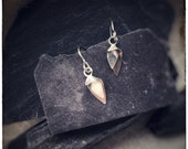 Flourish Silver tiny drop floral earrings