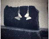 Sterling silver handmade cut out butterfly 'Zephyr' drop earrings