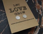 Textured Silver disc stud...