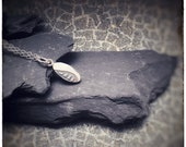 Sterling silver etched leaf detail 'Eden' handmade pendant, leaves and foliage decorated necklace
