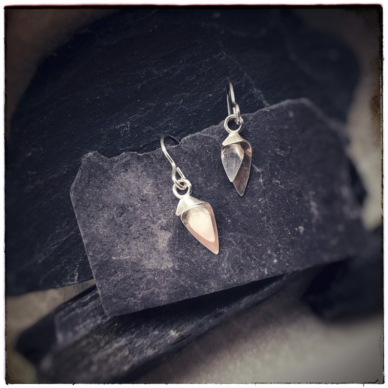 Flourish Silver tiny drop floral earrings image 0