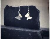 Sterling silver handmade cut out butterfly 'Zephyr' drop earrings