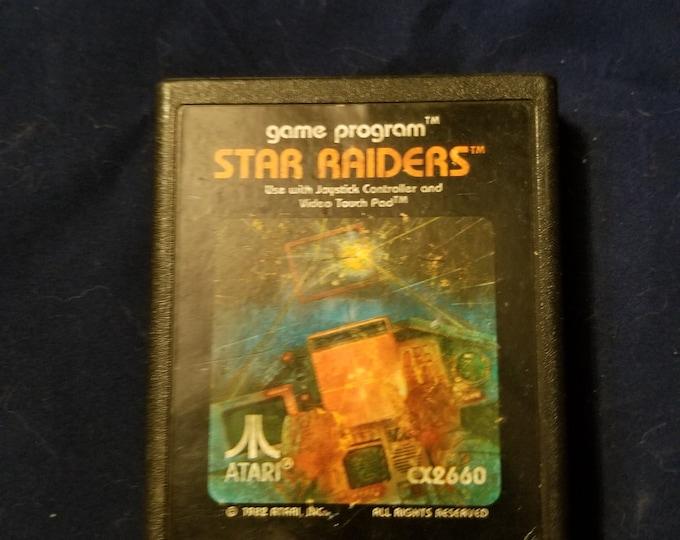 Atari 2600 Star Raiders Vintage Video Game Cartridge