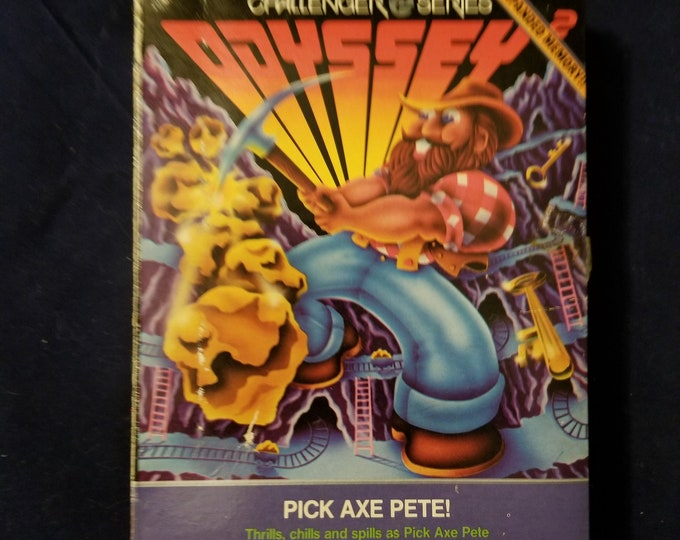 Magnavox Odyssey 2 Pick Axe Pete! in Retail Box with Manual and Cartridge