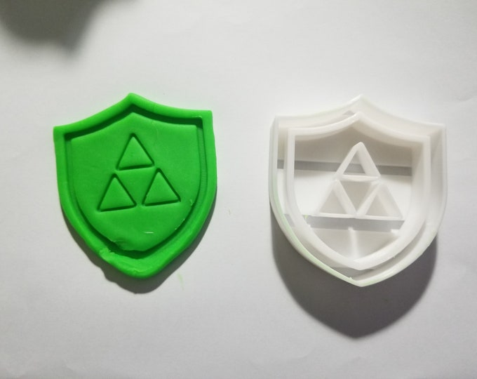 Legend Of Zelda Triforce Shield Cookie and Fondant Cutter - Multiple Sizes Available