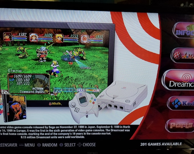 Ultimate Dedicated Sega Dreamcast 200 Gb Retropie Odroid Mini Game System with Over 200 Dreamcast Games On One System!!