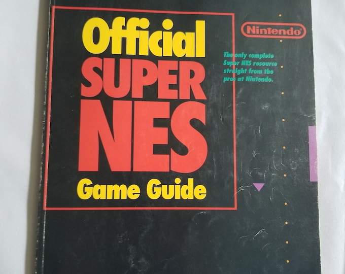 Official Super NES Super Nintendo Game Guide Book