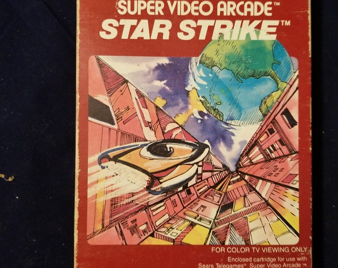 Intellivision Star Strike in Retail Box with Manual and 2 Overlays