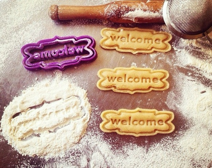 Welcome Sign Cookie Cutter