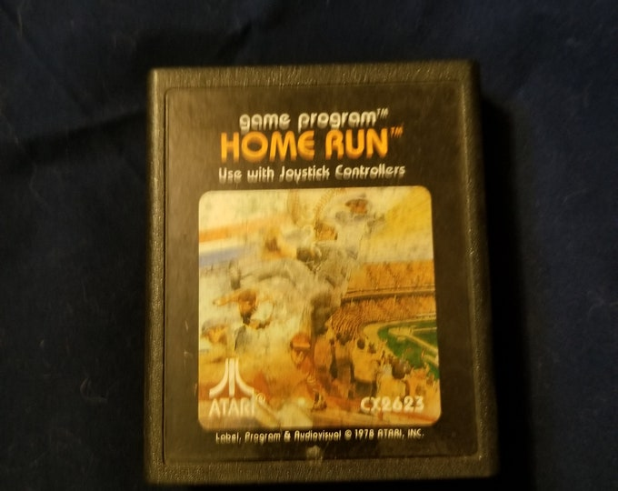 Atari 2600 Home Run Vintage Video Game Cartridge