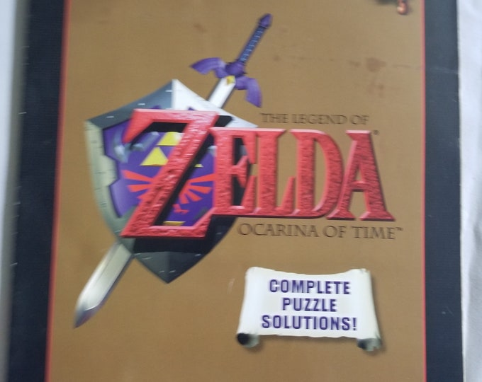 Legend Of Zelda Ocarina Of Time Vintage Player's Guide Book Strategy Guide