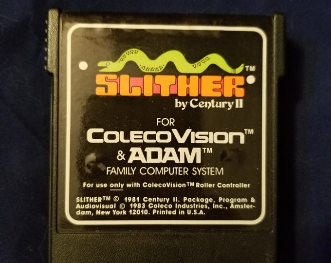 ColecoVision Adam Slither Game Cartridge Retro Video Game