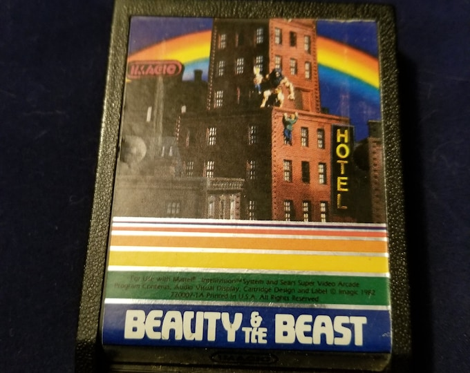 Intellivision Beauty and the Beast Vintage Video Game Cartridge