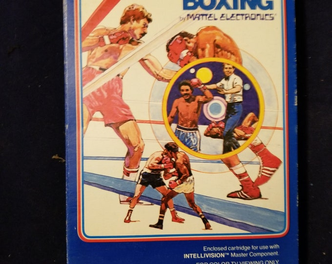 Intellivision Boxing in Retail Box with Manual, Advertisement and 2 Overlays with Cartridge