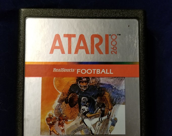 Atari 2600 Real Sports Football Vintage Video Game Cartridge