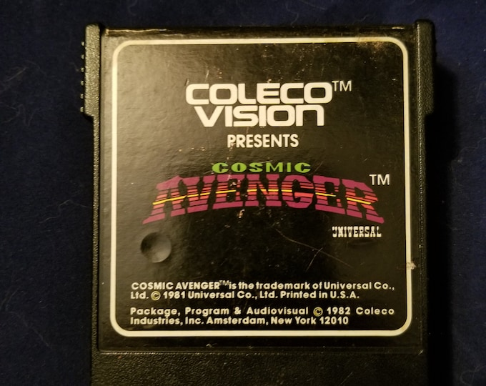 Colecovision Avenger Vintage Video Game Cartridge