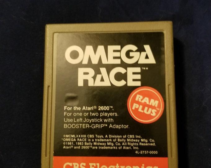Atari 2600 Omega Race Vintage Video Game Cartridge