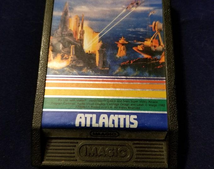 Intellivision Atlantis Vintage Video Game Cartridge