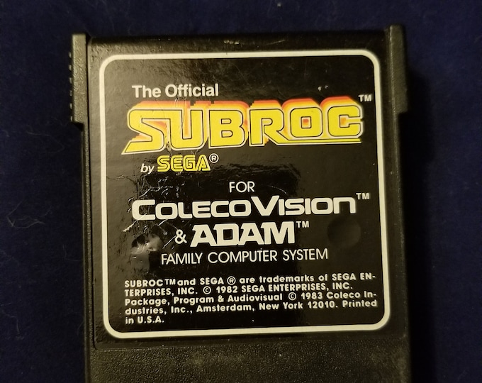 Colecovision Adam Subroc Vintage Video Game Cartridge