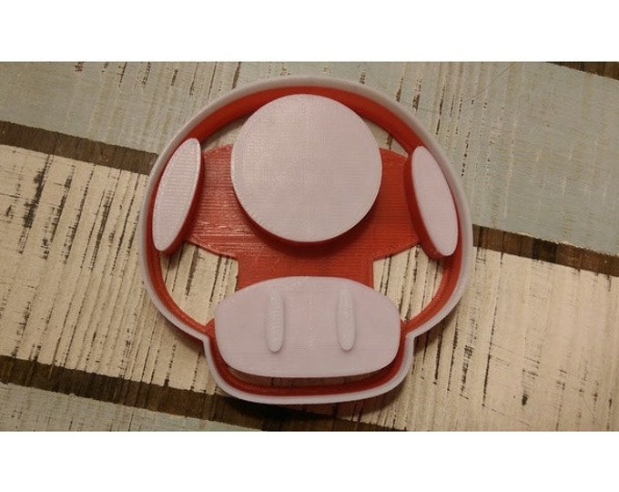 Super Mario Brother Mushroom Cookie Cutter