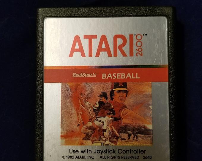 Atari 2600 Real Sports Baseball Vintage Video Game Cartridge