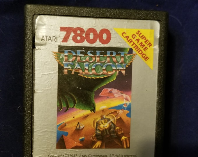 Atari 7800 Desert Falcon Game Cartridge Retro Video Game