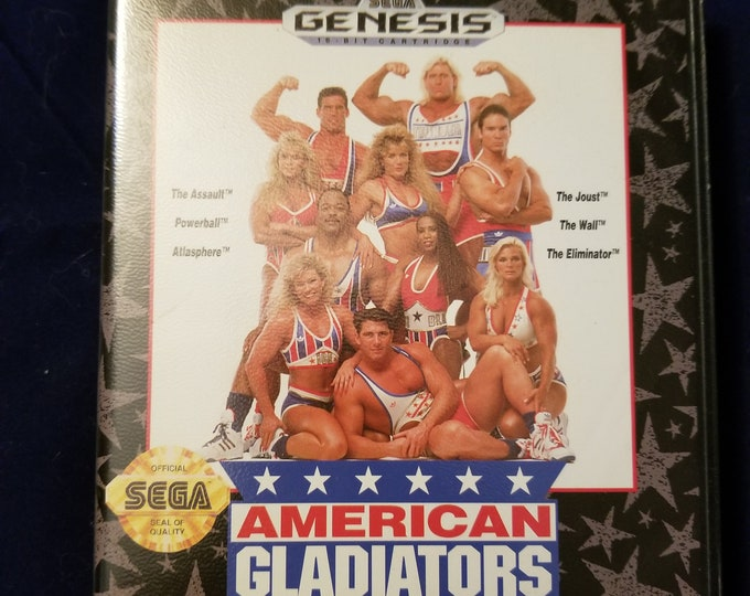Sega Genesis American Gladiators Vintage Video Game Complete