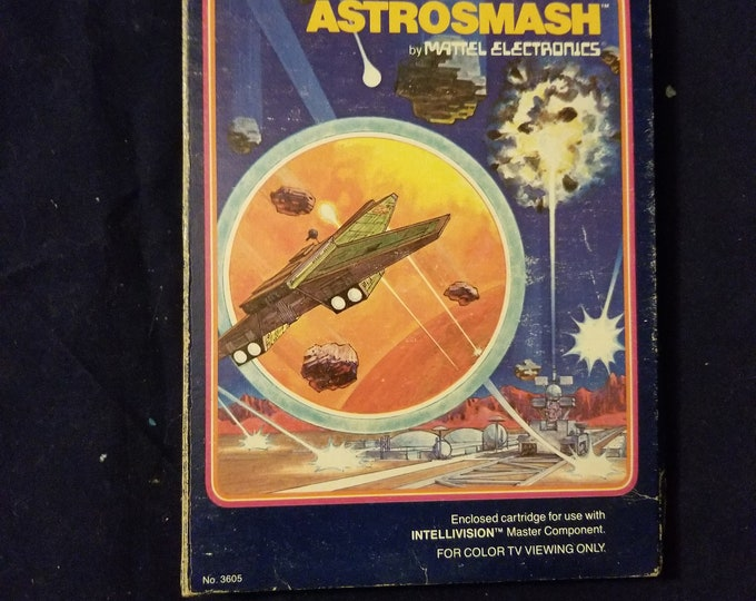 Intellivision Astrosmash in Retail Box with Manual and 2 Overlays