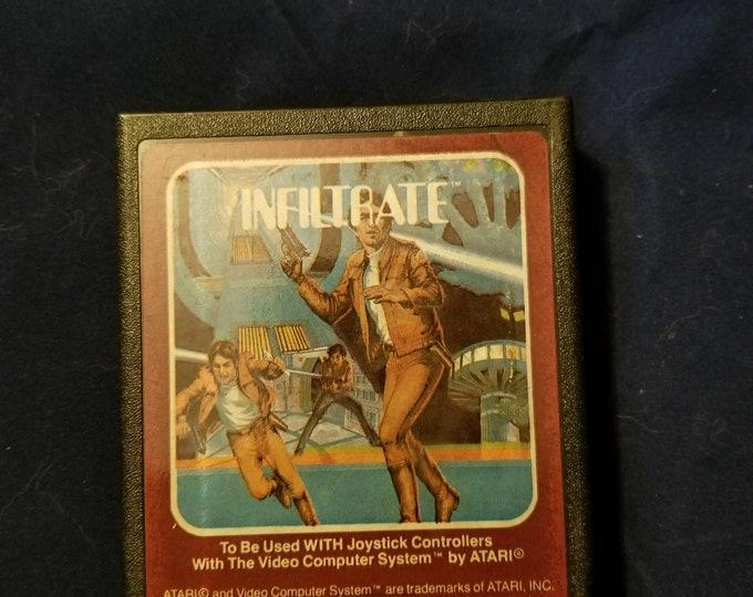Atari 2600 Infiltrate Vintage Video Game Cartridge