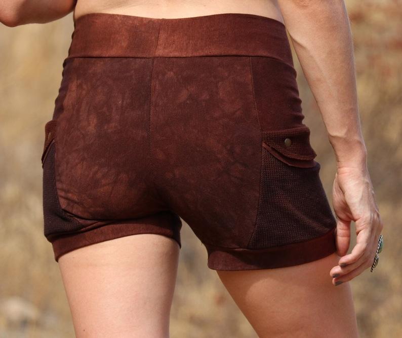 alternative hemp clothing for women eco-friendly clothing black shorts Jurassic Shorts- Summer pocket shorts