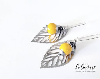 Handmade Glass Earrings Made in Quebec Jewelry Luluverre Creations Glass Jewelry