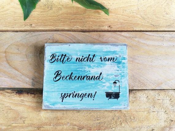 Schilder Spruche Holz Spruch Bad Deko Badezimmer Bilder Etsy
