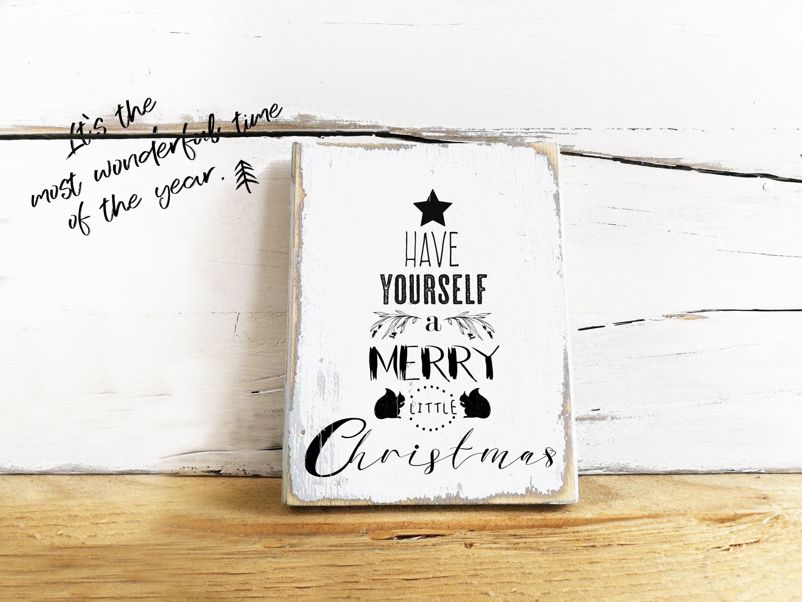 Weihnachtsdeko Holz Schild Weihnachten modern minimalistisch | Etsy