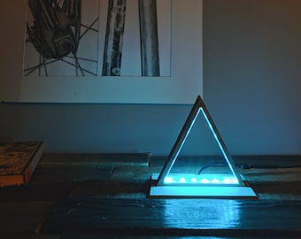 Contemporary wall light metal led rectangular spock by