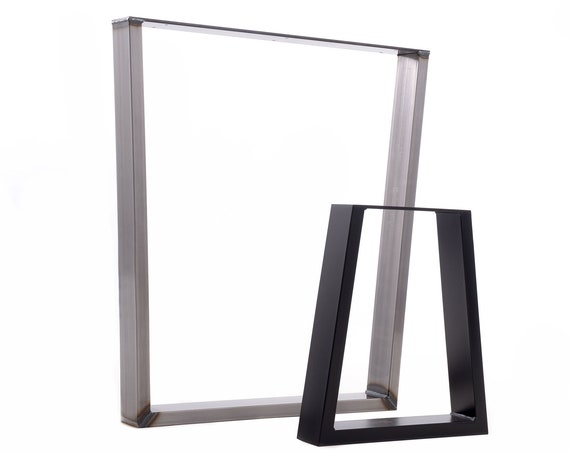 Trapezium shaped steel dining / bench / coffee table or office desk legs