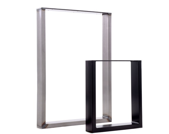 Rectangle shaped table legs made from 75x25mm box section