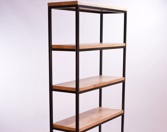 Steel and Oak modern industrial shelving unit, storage shelves by STOAKED - Customisable