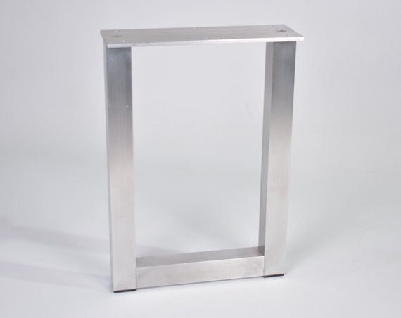 Aluminium Rectangle shaped outdoor table, bench, sofa or coffee table legs powder coated stainless fixings