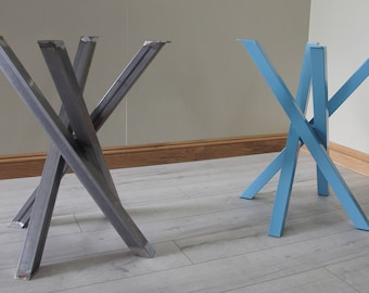 L shaped steel table legs for dining coffee table or office funky metal steel table legs for round square shaped dining table by stoaked customisable watchthetrailerfo