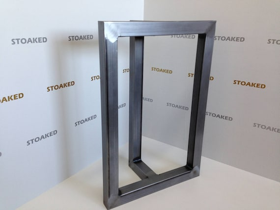 T shaped steel table legs for dining / coffee table or office desk