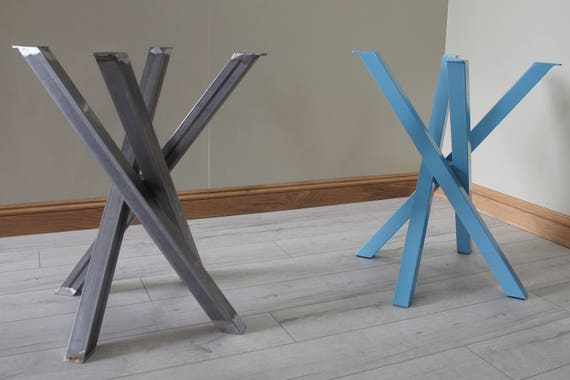 Set of funky table legs and cuboid table frame