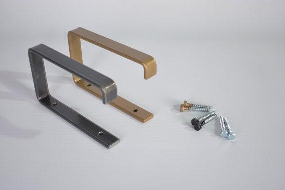 Steel Toilet Roll Holder, Modern Industrial Minimalist Decor , Metal, Black or Bronze Powder Coated.