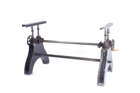 Industrial Operational Crank Mechanism for Dining / Office Table or Desk, Frame Cast Iron Powder Coated STOAKED