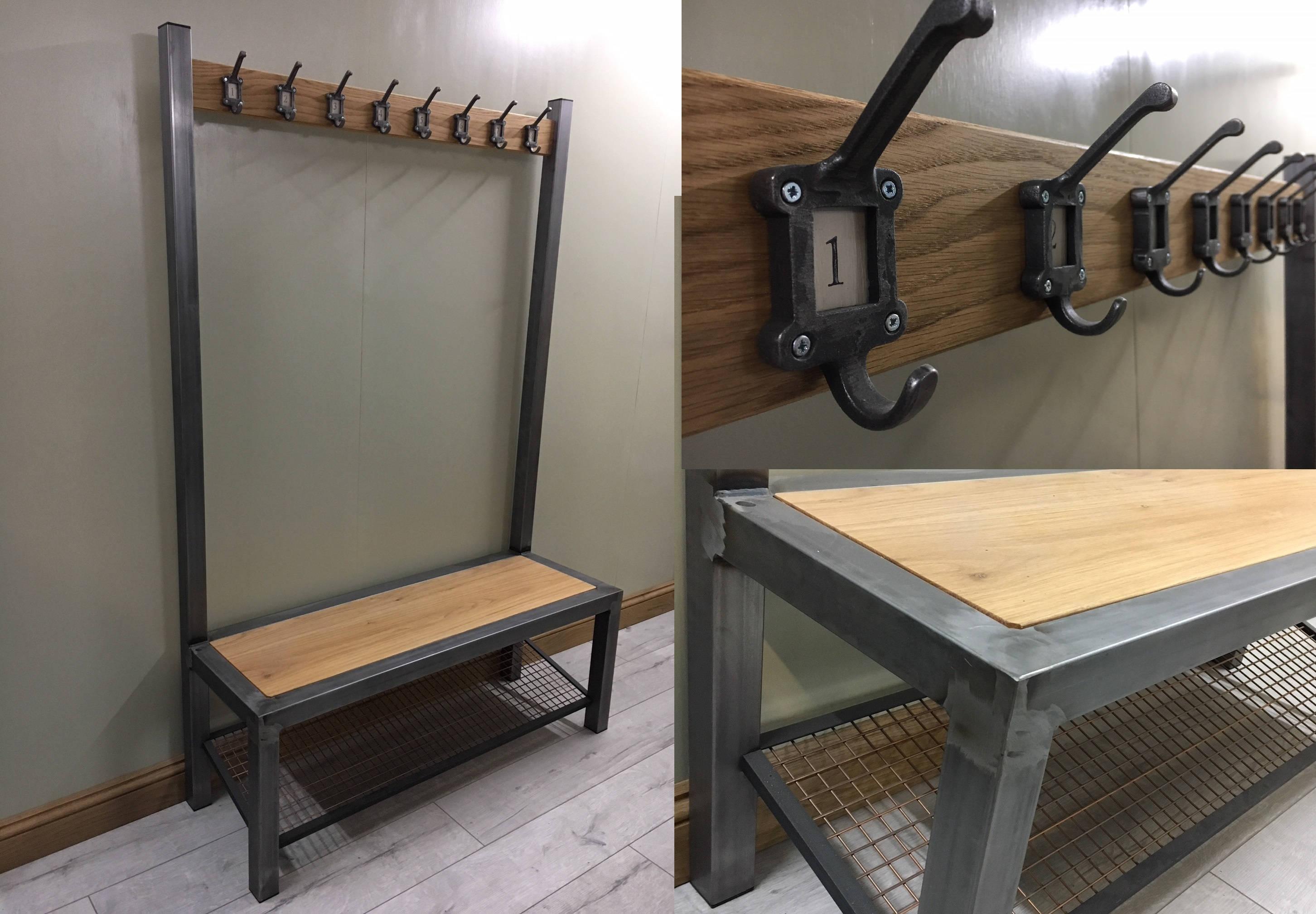 Industrial Entryway Coat Rack Bench Entryway Bench Shoe