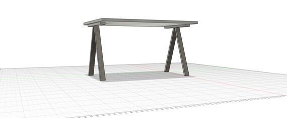 Single V shaped table leg