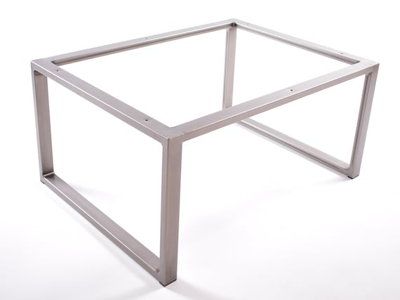 Cuboid industrial steel coffee / side table frame, metal powder coated finish - Custom sizes available by STOAKED
